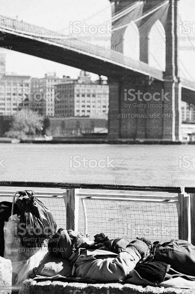 Homeless in New York City, USA royalty-free stock photo