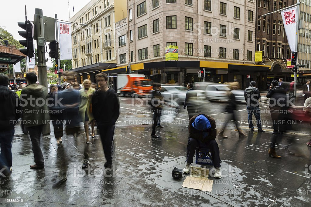 Homeless in Sydney stock photo