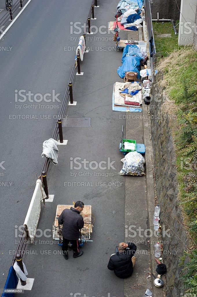 Homeless in Tokyo stock photo