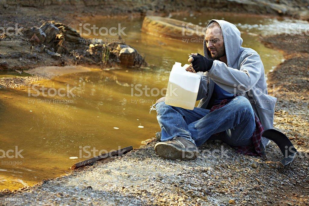 Homeless life royalty-free stock photo