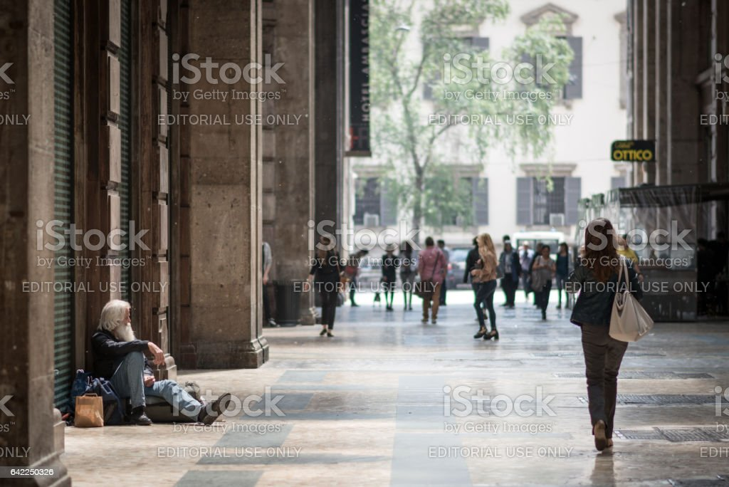 Obdachloser in Mailand – Foto