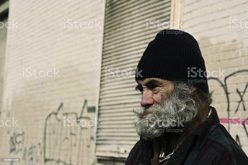 homeless man royalty-free stock photo