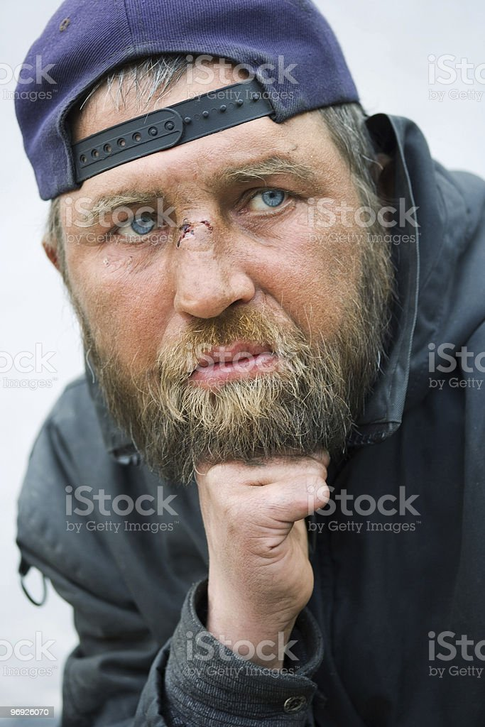 Homeless man. royalty-free stock photo