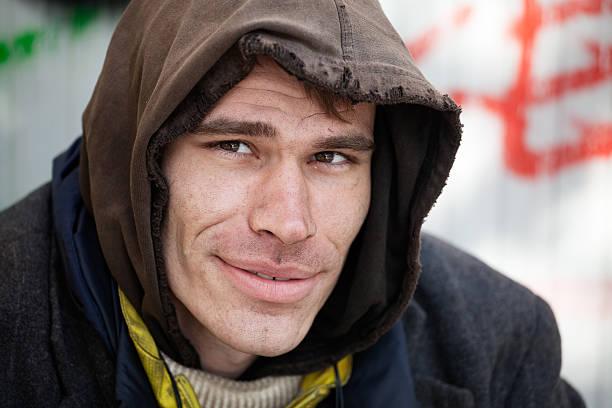Homeless Men stock photo