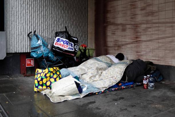 Obdachlose schlafen Rough. – Foto