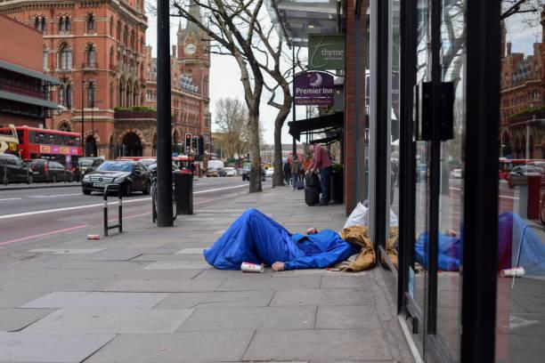 Obdachlosen Leben auf den Straßen von London, UK. – Foto