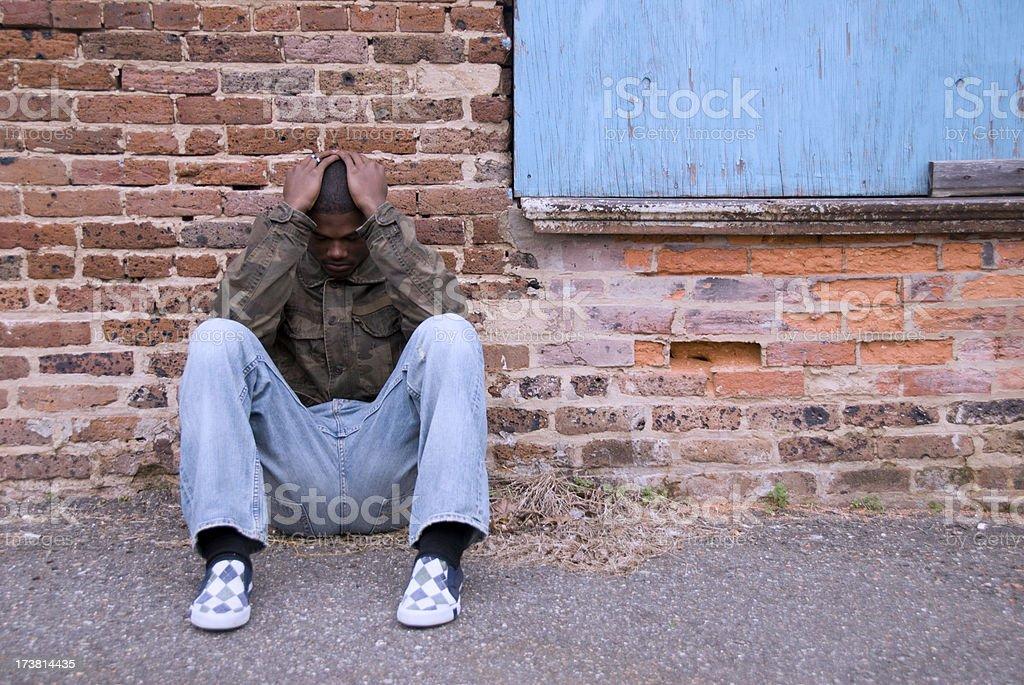 Homeless Teen stock photo