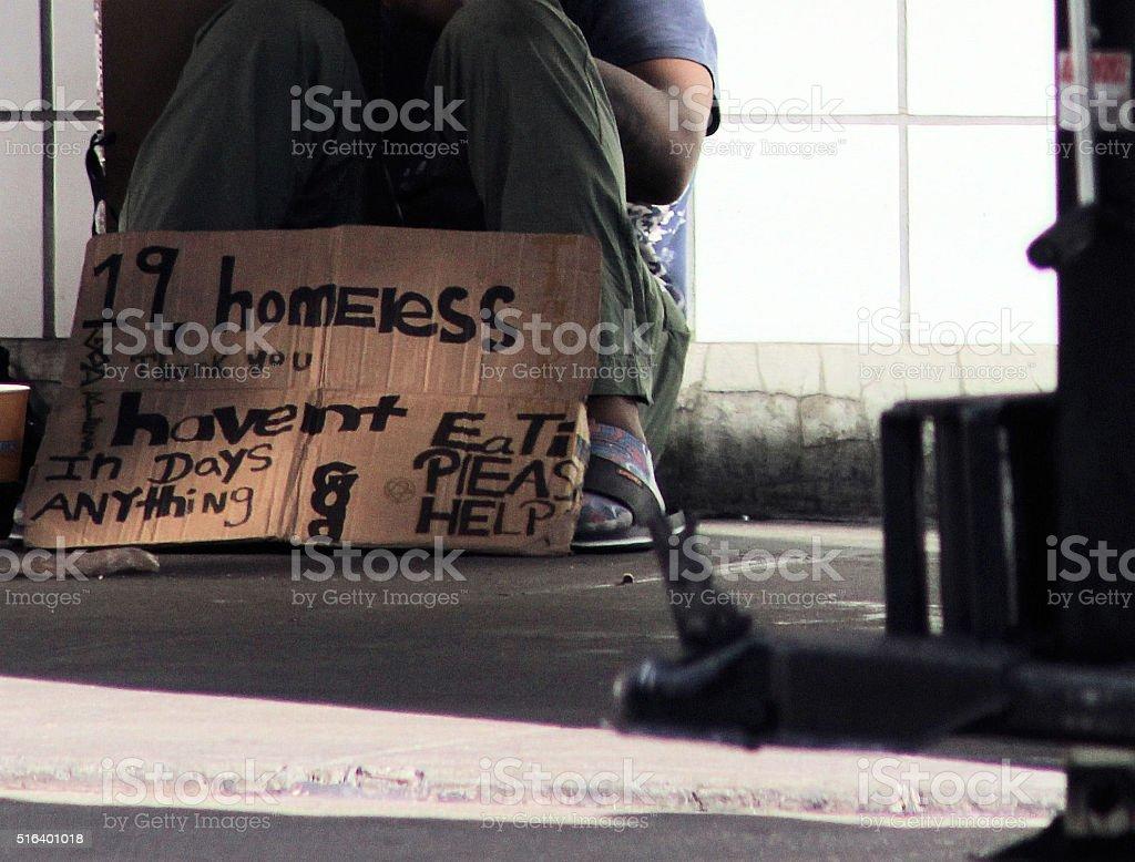 Homeless Teenager stock photo