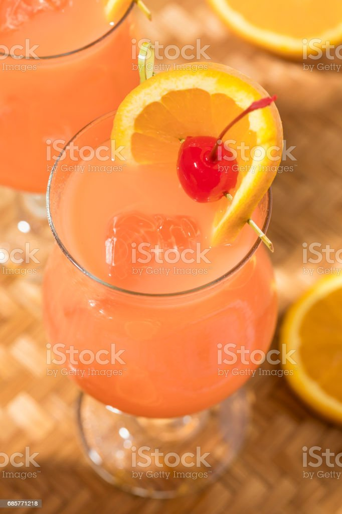 Homemade Alcoholic Hurricane Cocktail Drink royalty-free stock photo