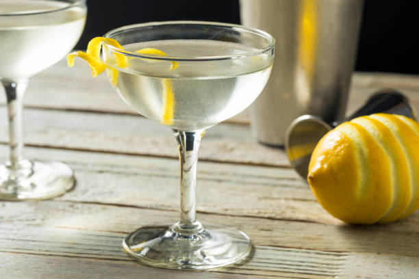 Homemade Alcoholic Vesper Martini stock photo