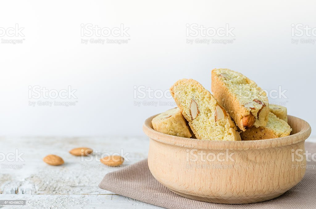 Homemade Almond cookies stock photo