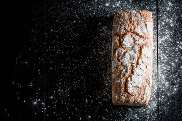 Homemade and fresh bread with several grains for breakfast – Foto