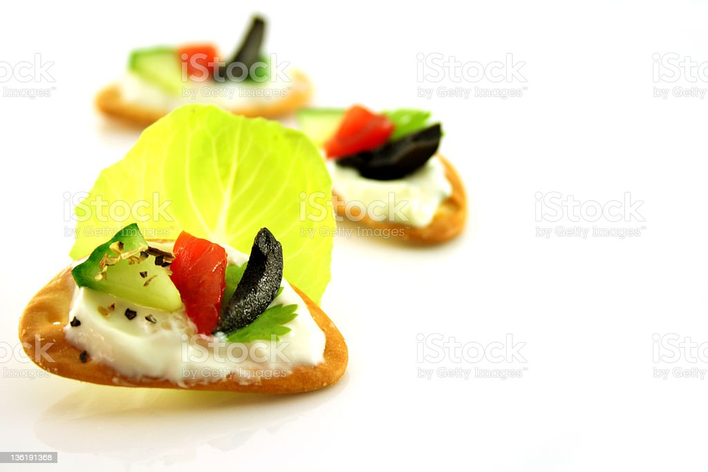 Home-Made Appetizer : Healthy crackers royalty-free stock photo