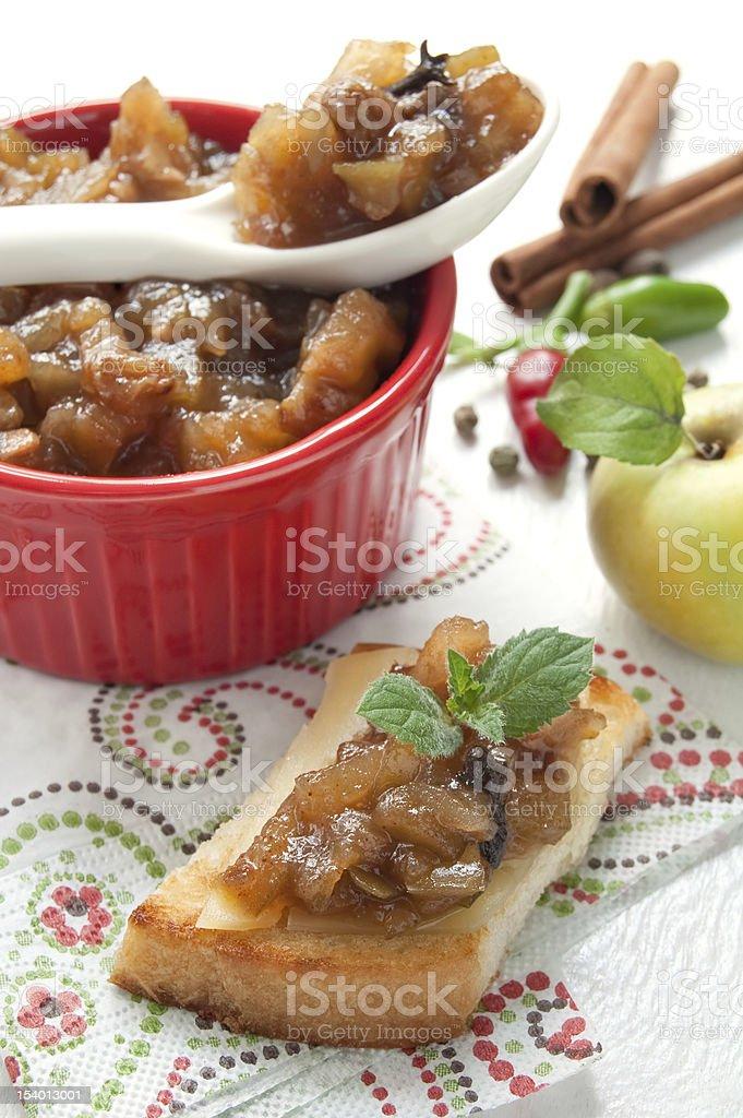 Homemade Apple Chutney royalty-free stock photo