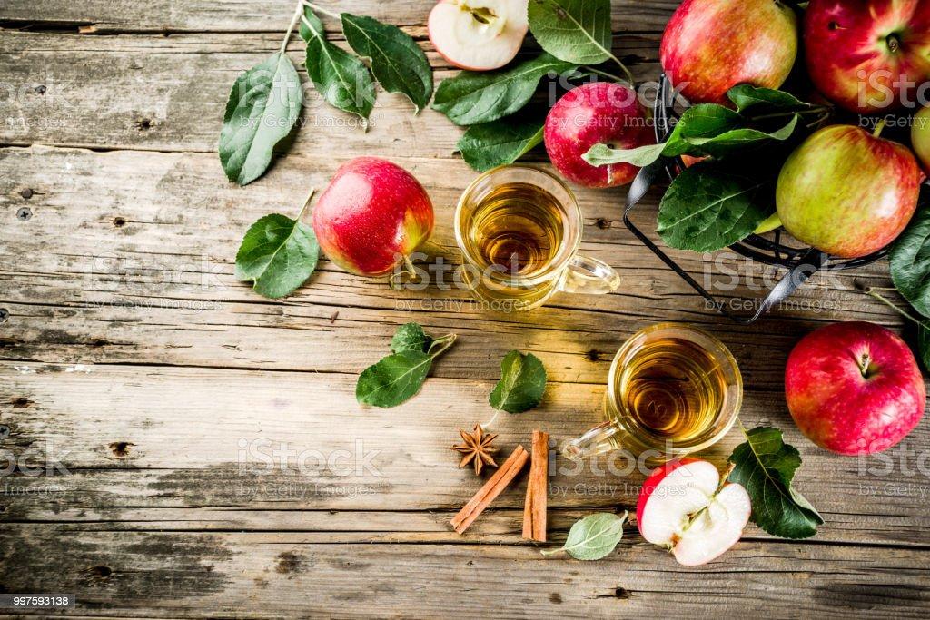Homemade apple cider stock photo