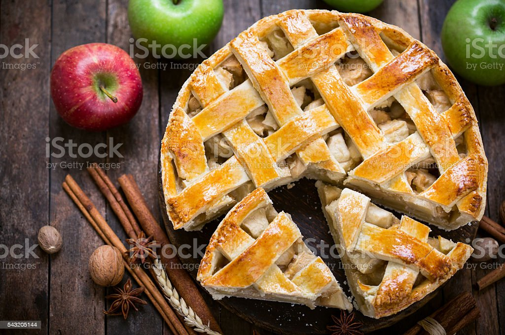 Homemade apple pie stock photo