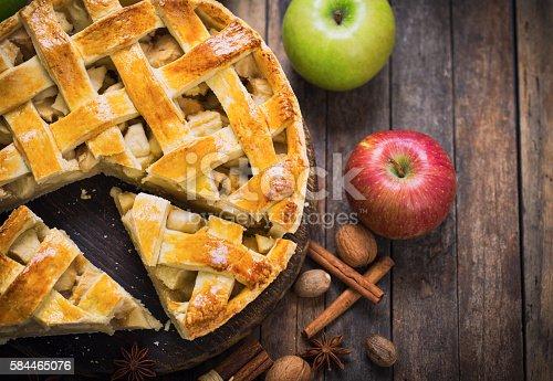 istock Homemade apple pie 584465076