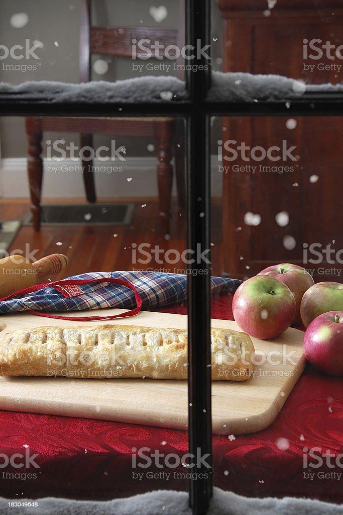 Homemade Apple Strudel royalty-free stock photo