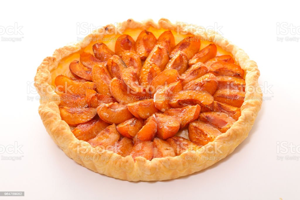 homemade apricot pie royalty-free stock photo