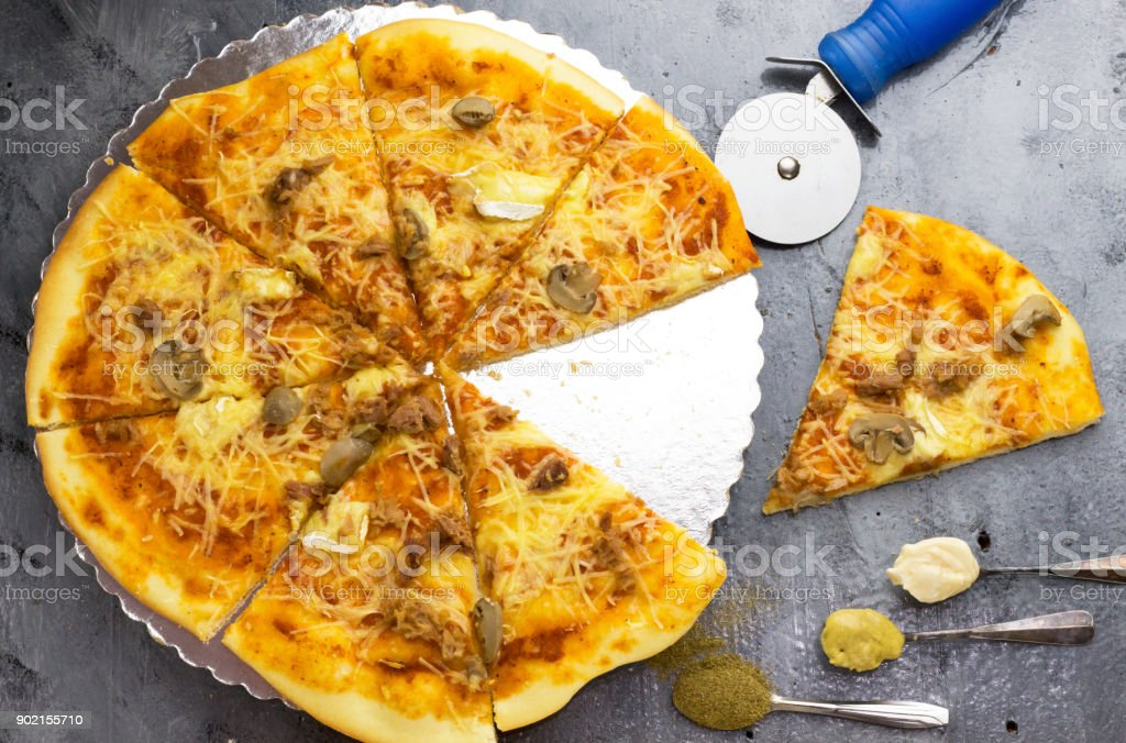 Homemade arabic pizza slice ingredients sliced mushroom special homemade arabic pizza slice ingredients sliced mushroom special tomato sauce melted mozzarella cheese serving forumfinder Images