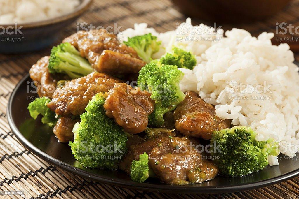 Asian caseras carne de res y de brécol - foto de stock