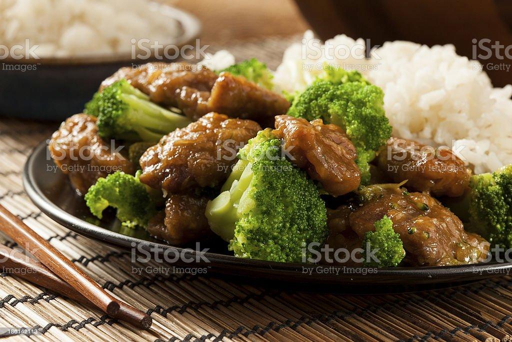Homemade Asian Beef and Broccoli stock photo