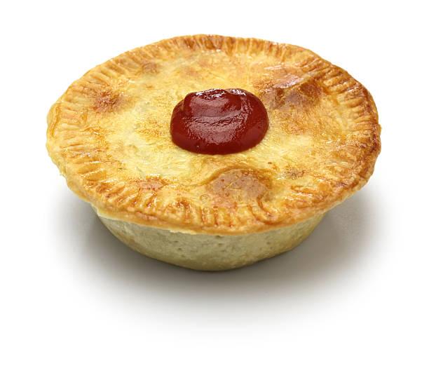 homemade aussie meat pie - torta salgada - fotografias e filmes do acervo