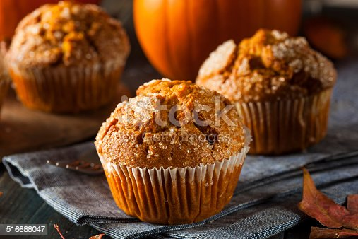 Homemade Autumn Pumpkin Muffin Ready to Eat