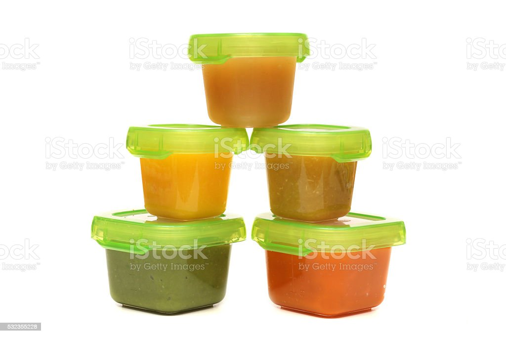 Homemade Baby Food stock photo
