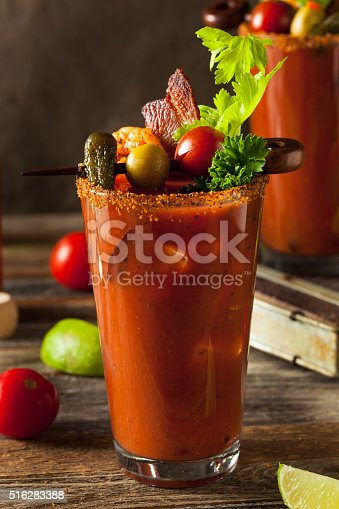 istock Homemade Bacon Spicy Vodka Bloody Mary 516283388