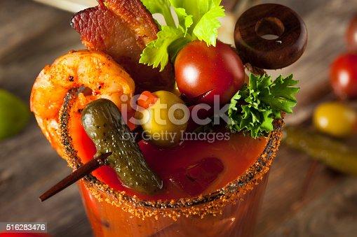 istock Homemade Bacon Spicy Vodka Bloody Mary 516283476