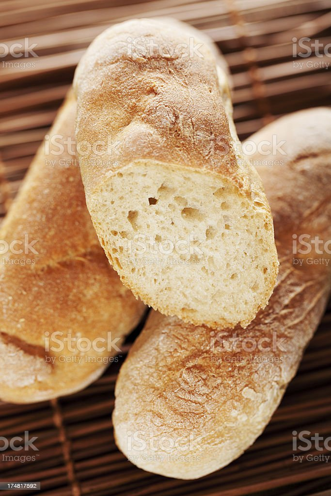 Homemade baguettes royalty-free stock photo