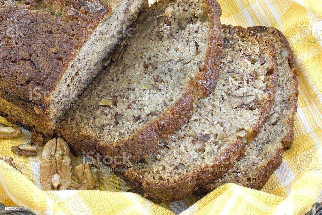 Homemade Banana Bread Closeup royalty-free stock photo