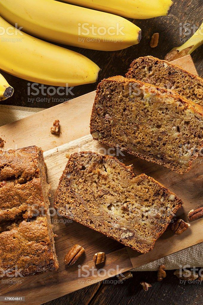 Homemade Banana Nut Bread stock photo