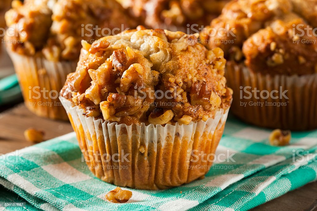 Homemade Banana Nut Muffins stock photo