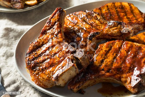 Homemade Barbecue Pork Chops Ready to Eat