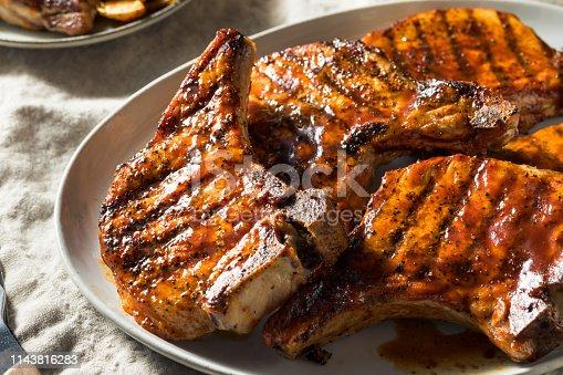 istock Homemade Barbecue Pork Chops 1143816283