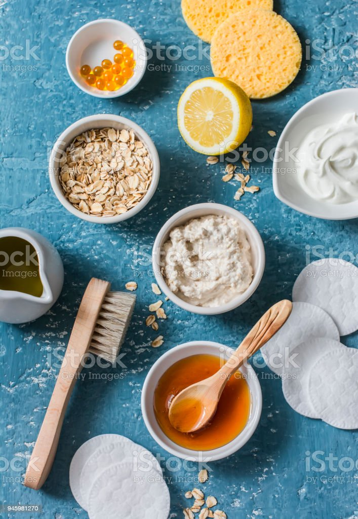Homemade Beauty Products Concept Natural Moisturizing Nourishing