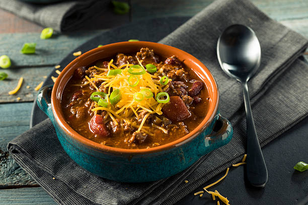 Homemade Beef Chili Con Carne stock photo