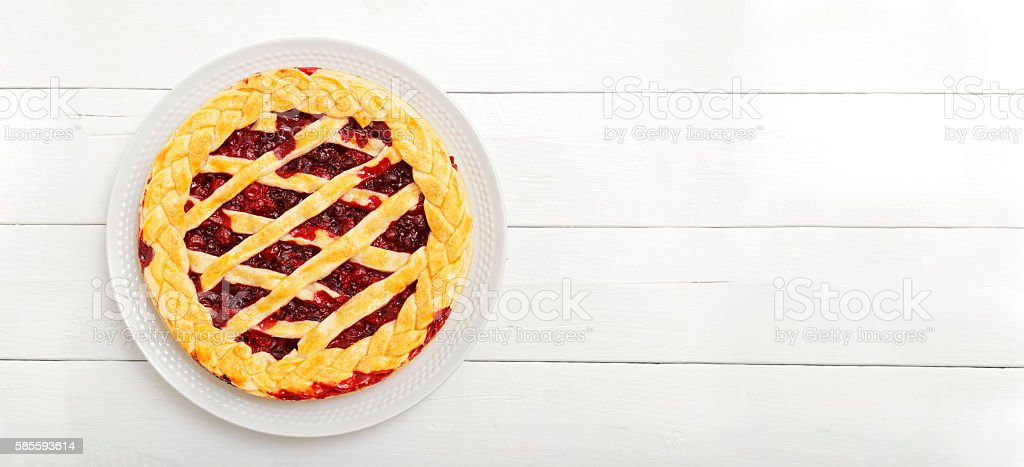 Homemade berry pie - foto de stock