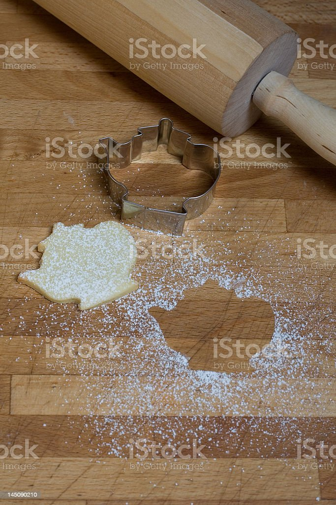 Home-made biscuits royalty-free stock photo