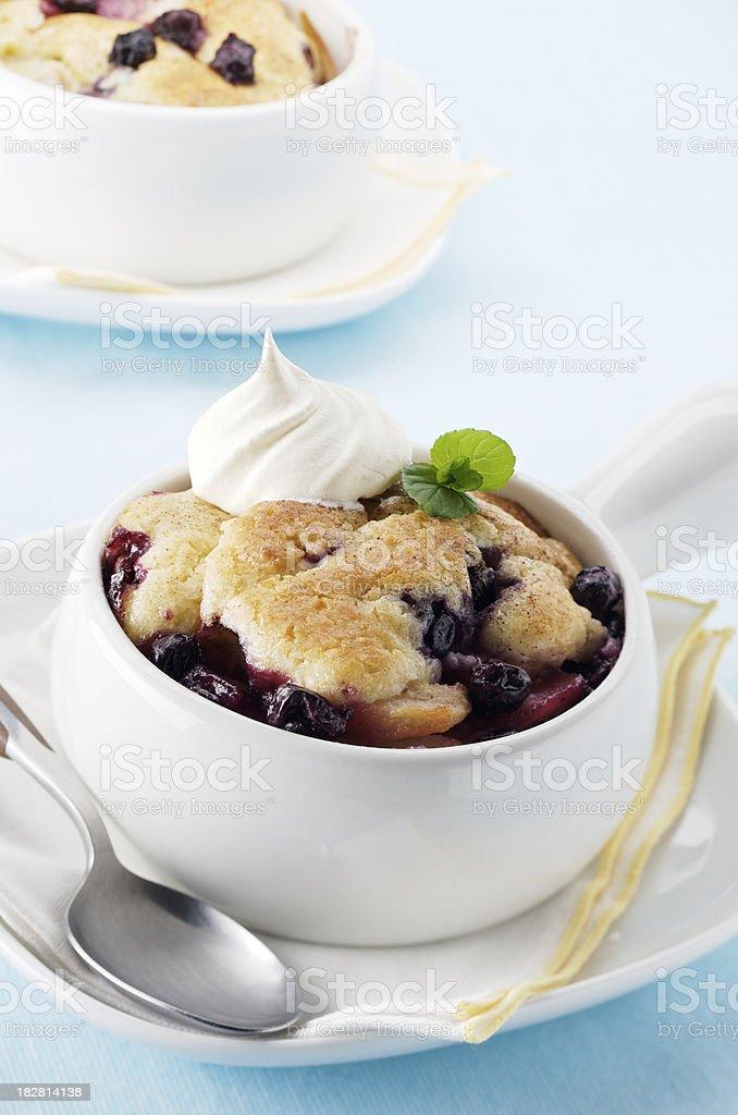 Homemade Blueberry Cobbler stock photo