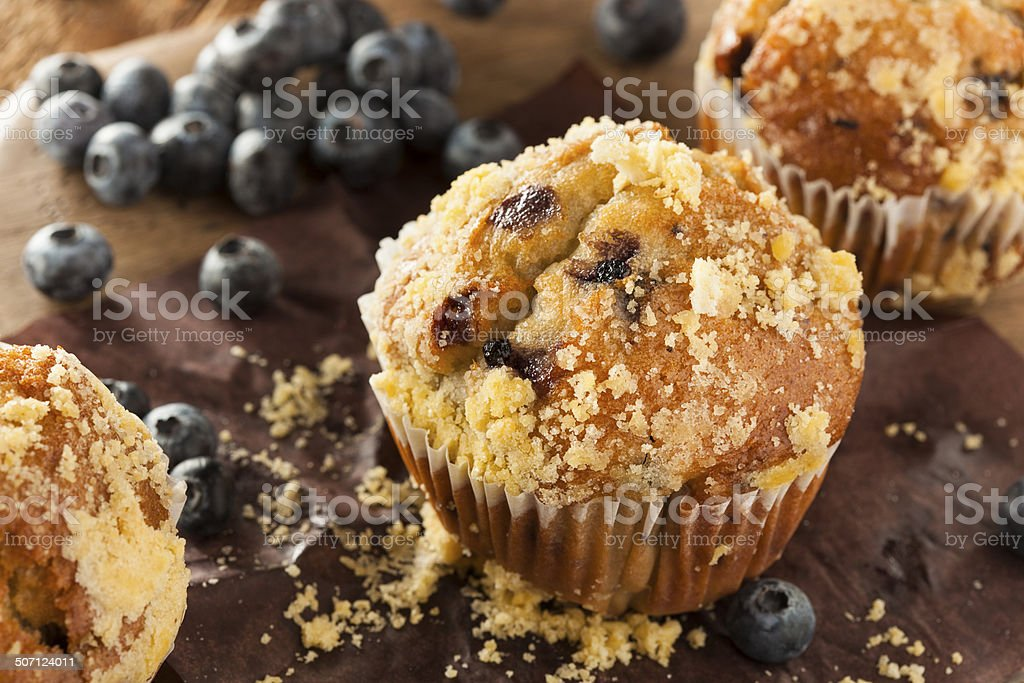 Homemade Blueberry Muffins for Breakfast stock photo