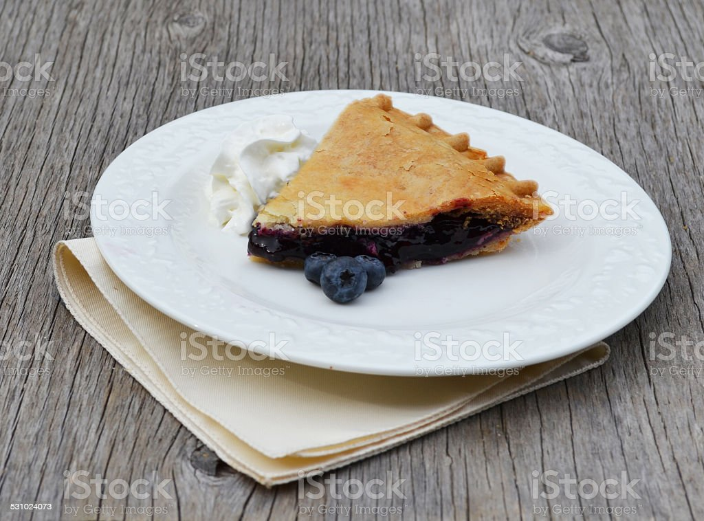 Homemade Blueberry Pie stock photo
