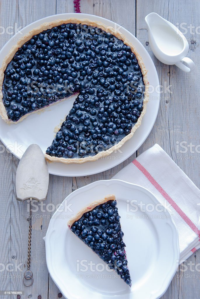 Homemade Blueberry Tart stock photo