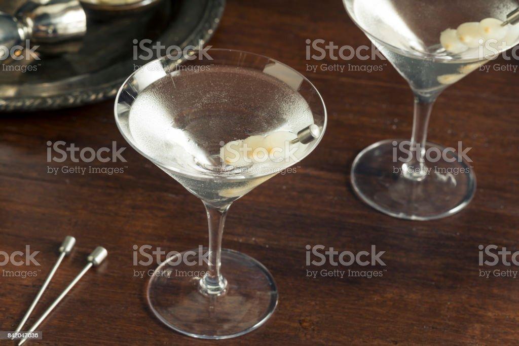 Homemade Boozy Martini stock photo