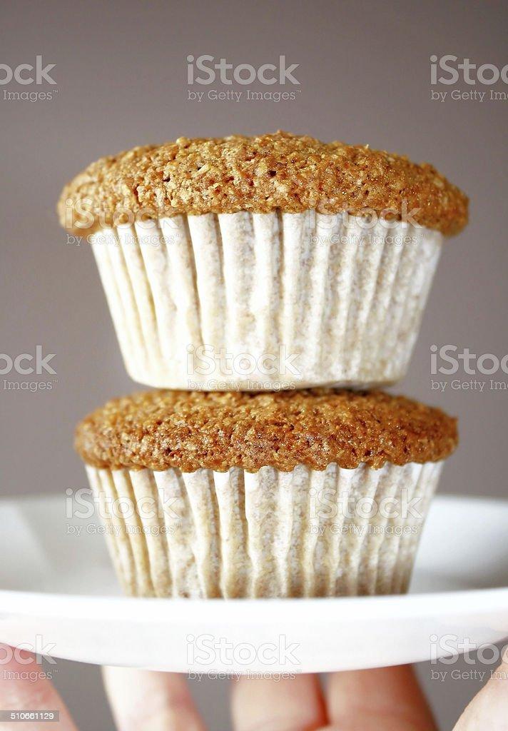 Homemade Bran Muffins stock photo
