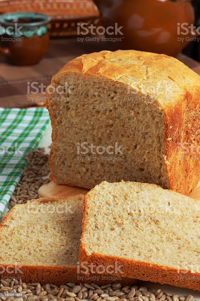 Home-made bread stock photo