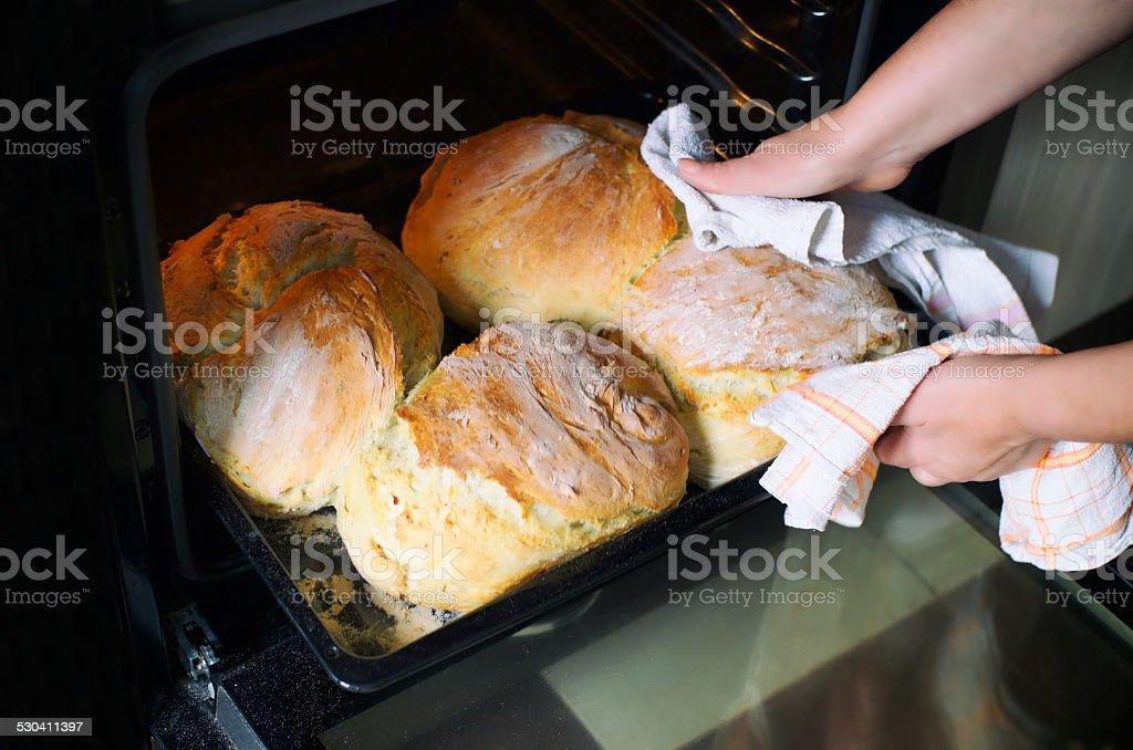 Homemade bread. stock photo