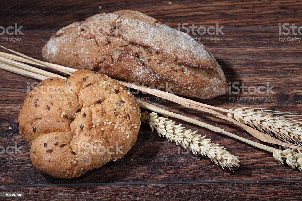 Homemade bread with flour royalty-free stock photo
